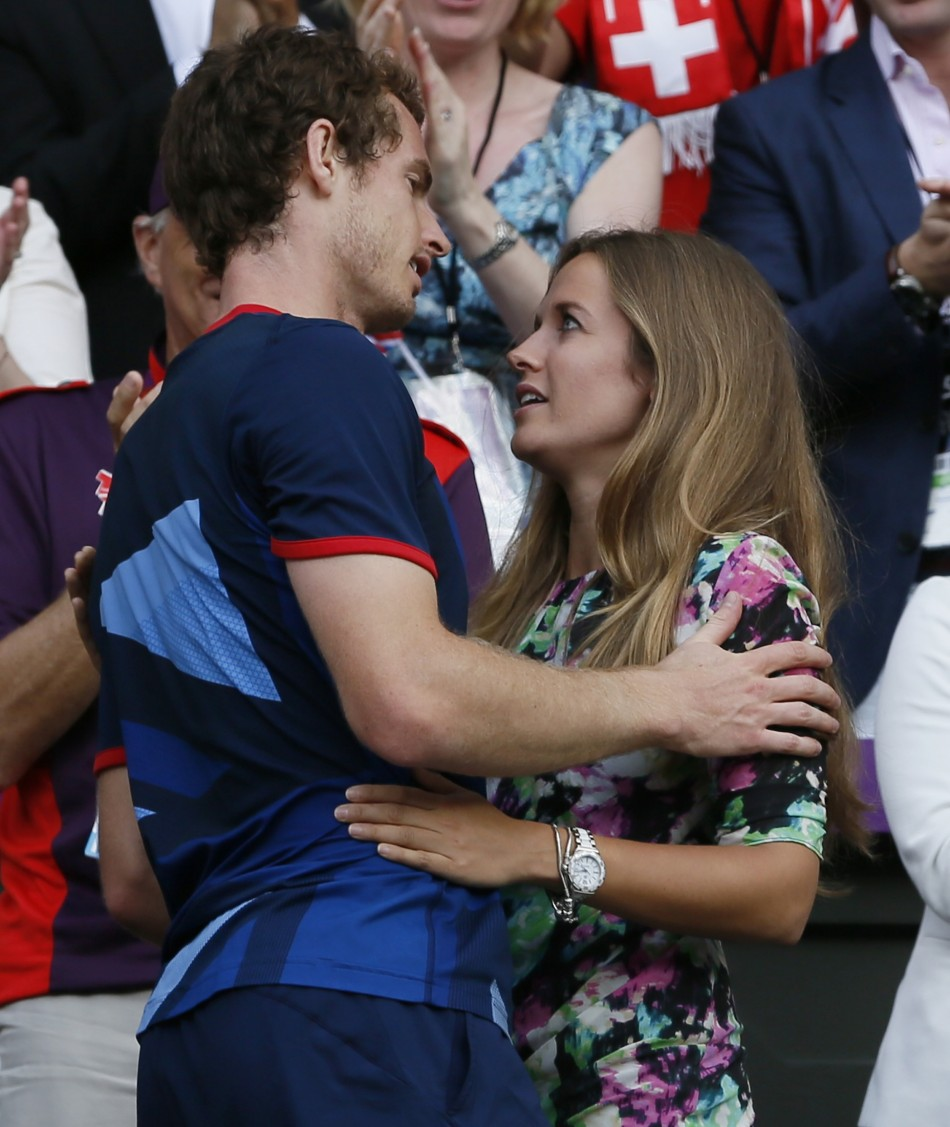 Andy Murray and Kim Sears celebrate his moment of victory