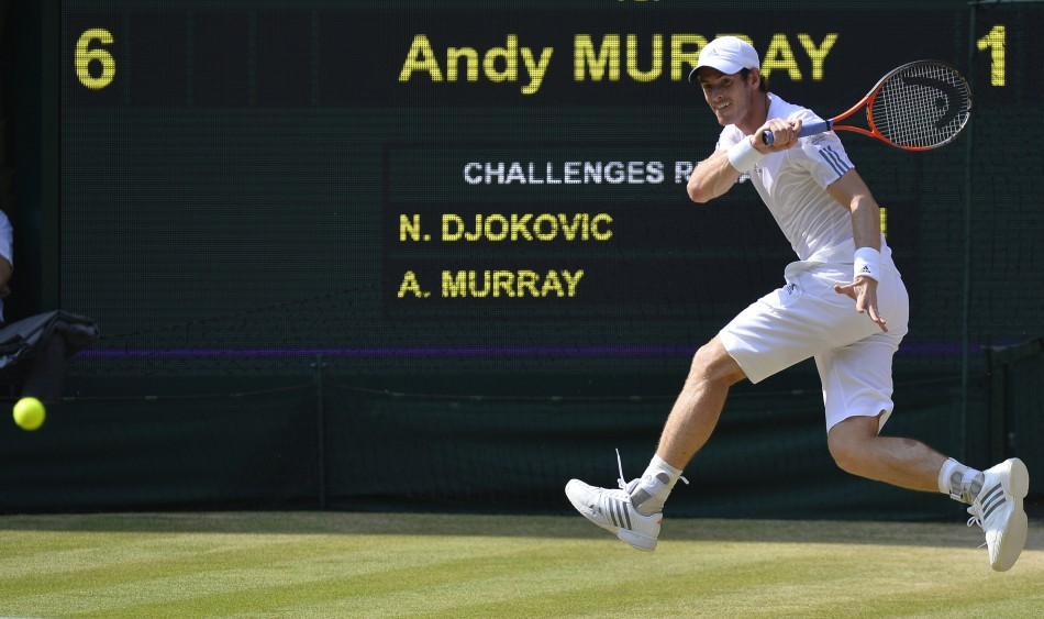 Andy Murray in the men's final at Wimbledon
