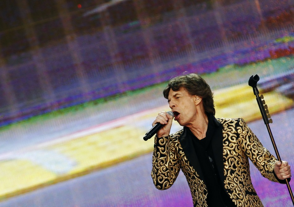 Mick Jagger of the Rolling Stones performs at the British Summer Time Festival in Hyde Park in London July 6, 2013.