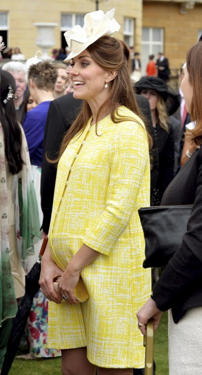 Duchess of Cambridge attends a garden party at Buckingham Palace in London May 22, 2013.