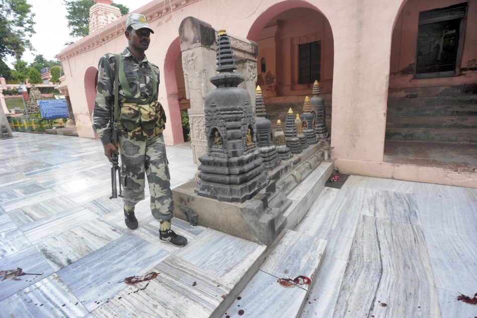 Bodh Gaya bomb blasts in India