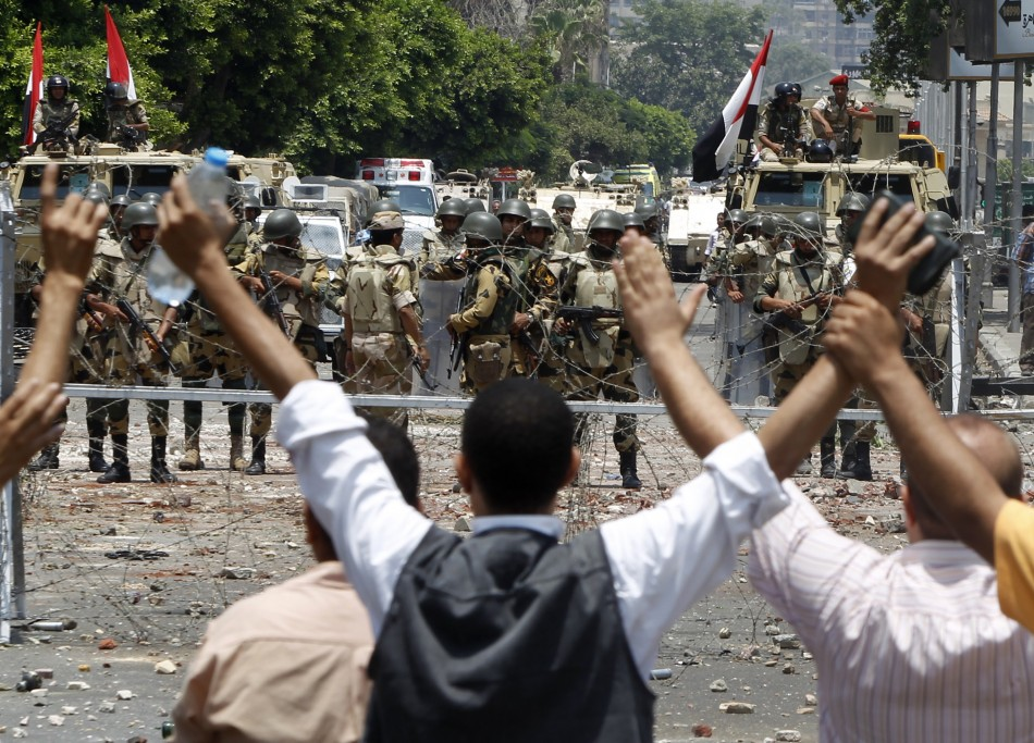 Members of the Muslim Brotherhood and supporters of deposed Egyptian President Mohamed Morsi