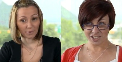 Amanda berry (L) and Michelle Knight have thanked people for their support