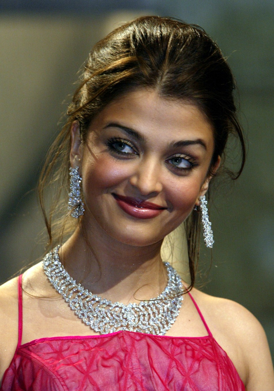 Jury member Aishwarya Rai, Indian actress and a former Miss World, smiles during opening ceremonies at the 56th International Film Festival in Cannes, May 14, 2003.