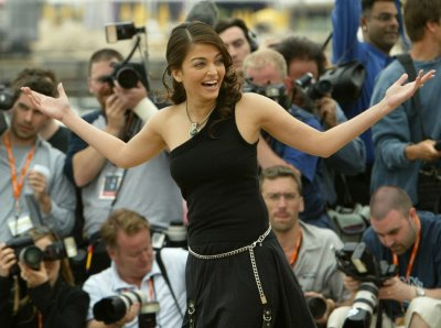 Indian actress and jury member Aishwarya Rai poses at the 56th International Film Festival in Cannes, May 17, 2003. Rai, a former Miss World, is one of the stars that brings this French Riviera town to life during the 12-day festival for film premieres, d