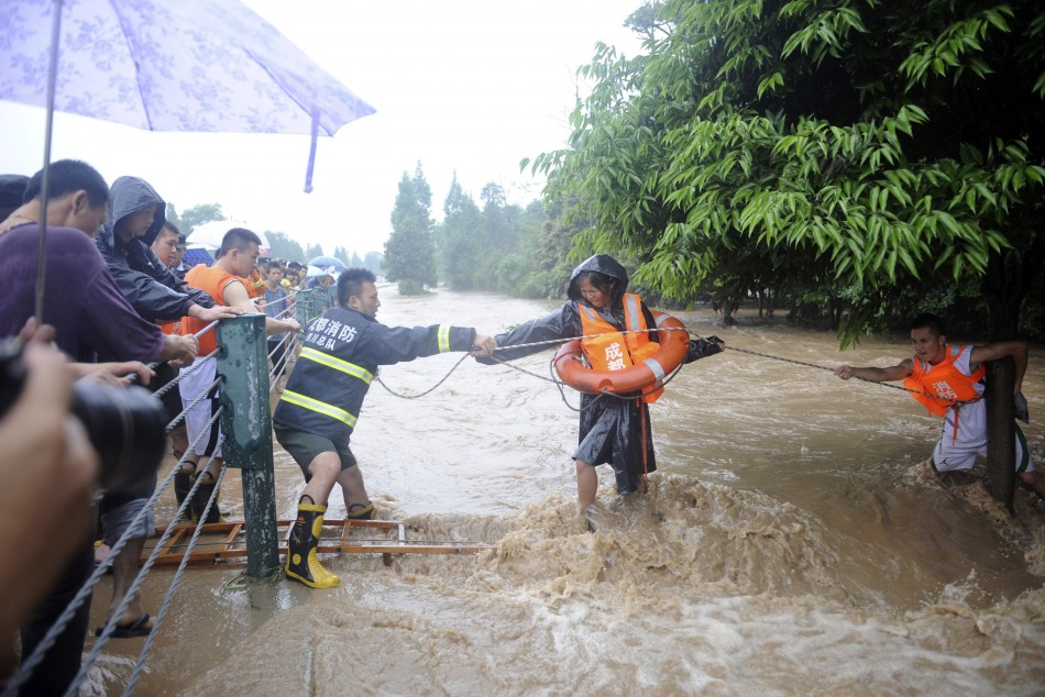 Floods rescue China