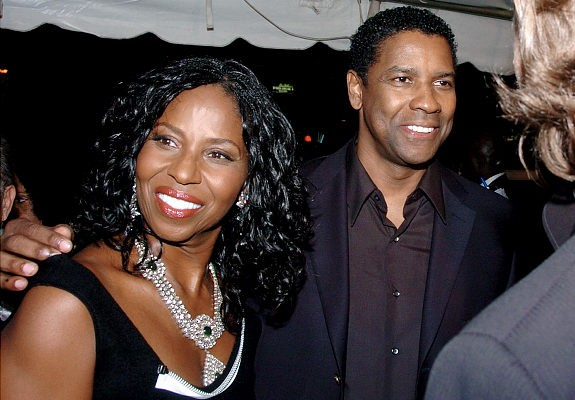 Denzel Washington and wife Pauletta
