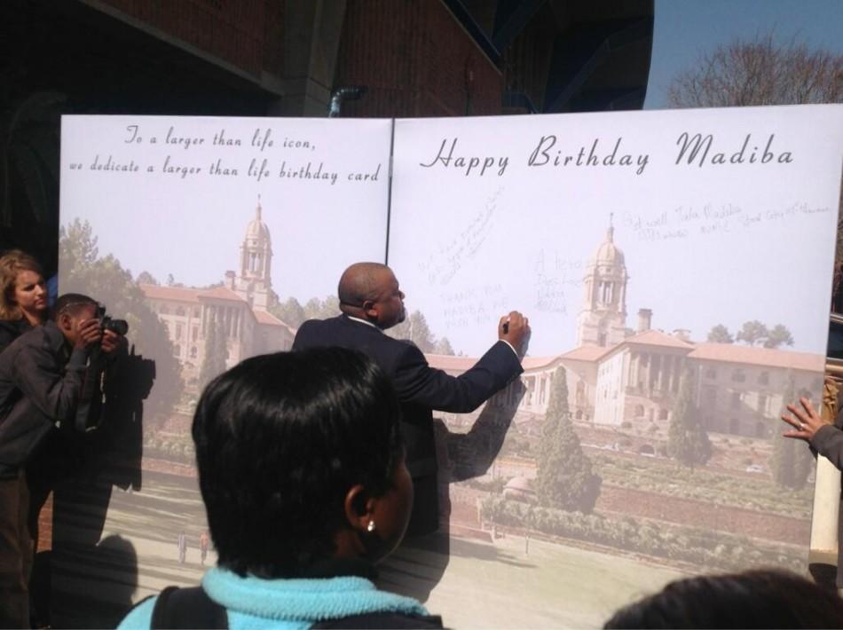 Nelson Mandela birthday card