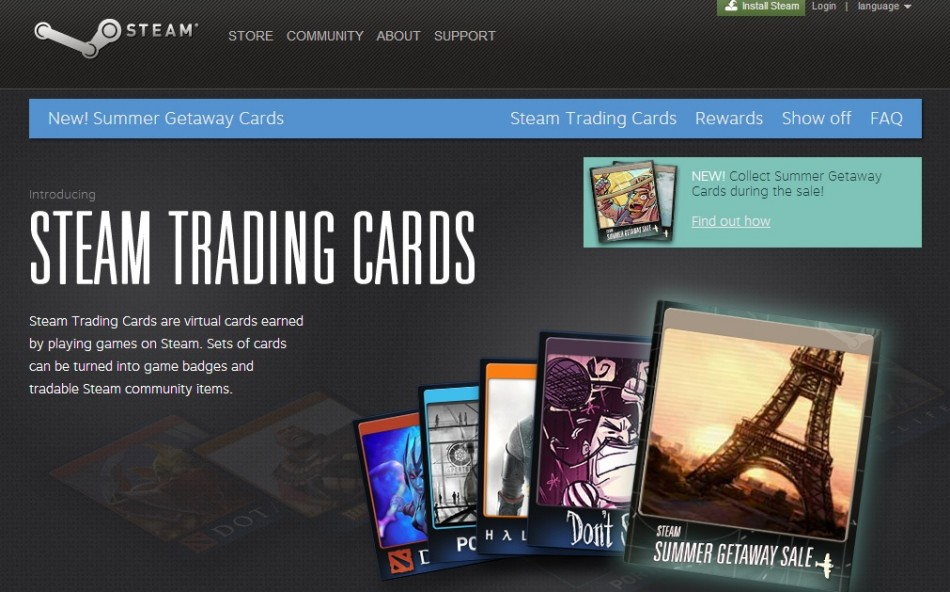 Steam Trading Cards (Courtesy: steamcommunity.com/tradingcards)