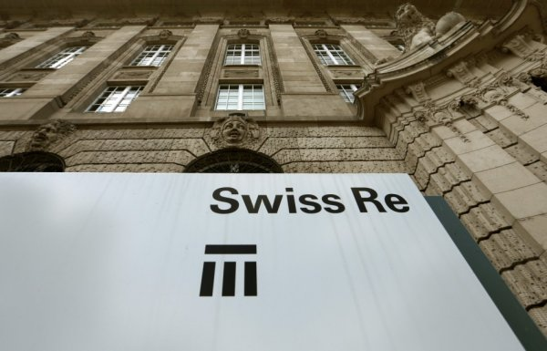 Logo of the second biggest reinsurer, Swiss Re, seen in Zurich