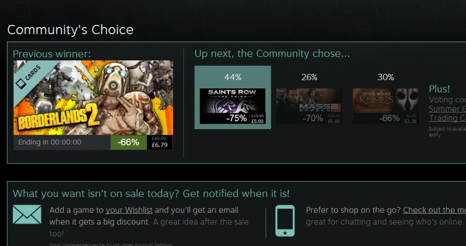 Community's Choice in Steam Summer Sale 2013 (Courtesy: store.steampowered.com)