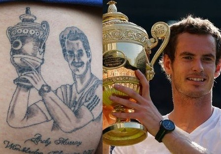 Andy Murray tattoo