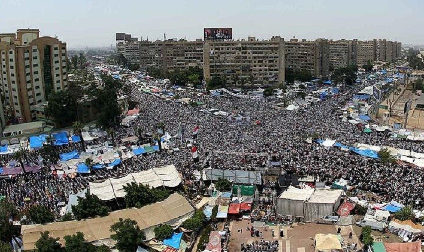 Supporters and opponents of ousted Egyptian President Mohamed Morsi prepare to stage large rallies in Cairo on the first Friday of Ramadan. (Basheer via Twitter)