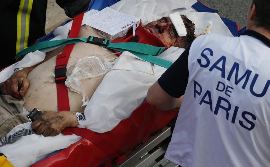Injured passenger Bretigny-sur-Orge train smash Paris