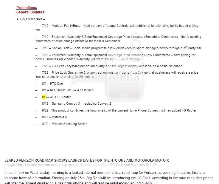 Moto X release date revealed in Verizon schedules (Courtesy: www.phonearena.com)