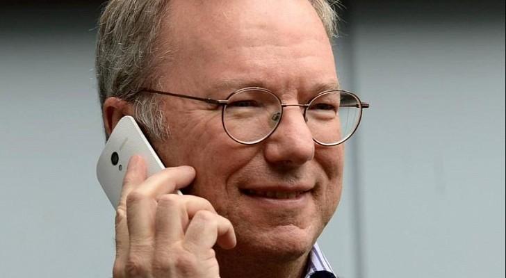 Eric Schmidt, Google's Executive Chairman talking on a device similar to Moto X (Courtesy: Reuters)