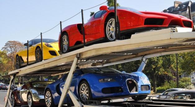 Luxury cars impounded