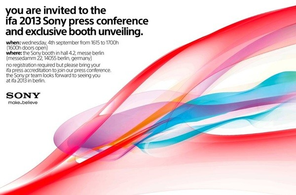 Sony Press Invitation for IFA 2013 (Courtesy: Android Central)
