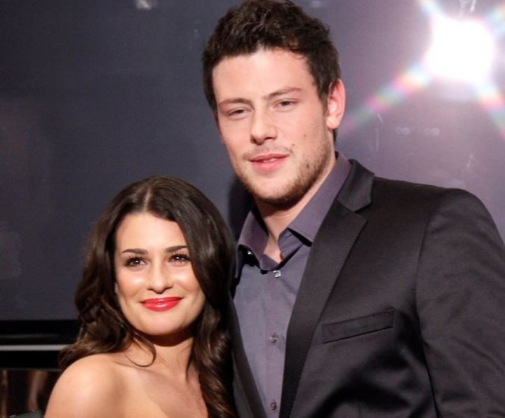 Lea Michele (L) and Cory Montieth