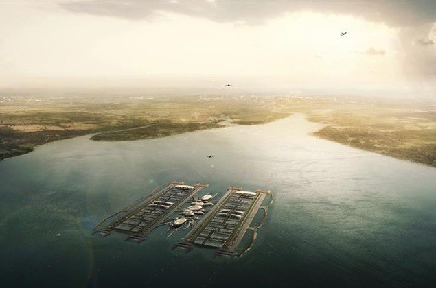 Vision: Thames Estuary airport as imagined by Johnson