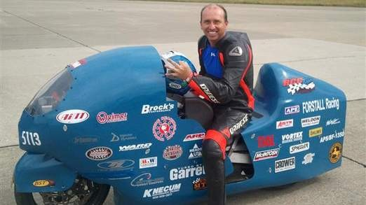Bill Warner who died trying to breaK A 300 mph land speed record
