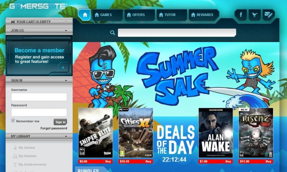 GamersGate Summer Sale (Courtesy: www.gamersgate.com)
