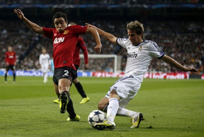 Fabio Coentrao (R) and Rafael
