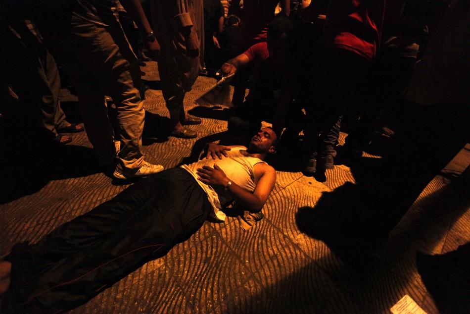 Injured pro-Morsi protester