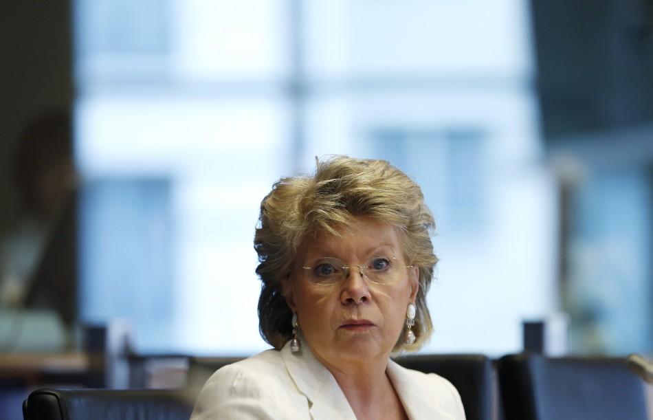European Union Justice Commissioner Viviane Reding