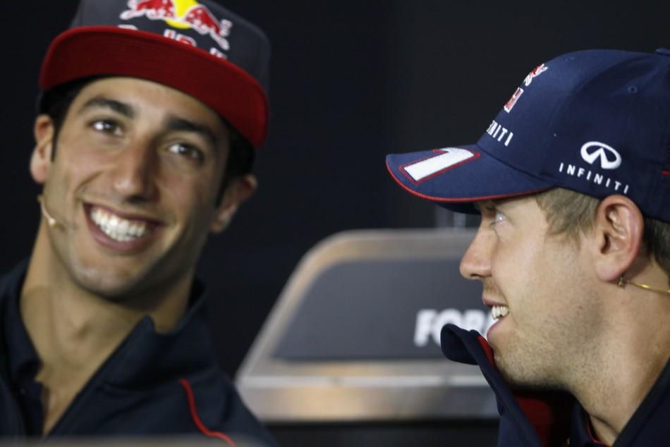 Daniel Ricciardo-Sebastian Vettel