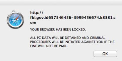 Mac Ransomware Pop-up Message