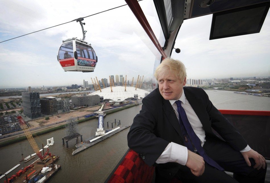Boris Johnson on Emirates cable car