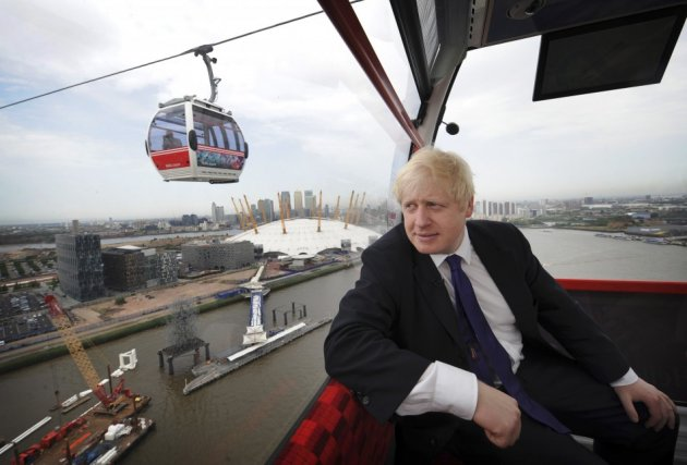 Boris Johnson on Emirates cable car