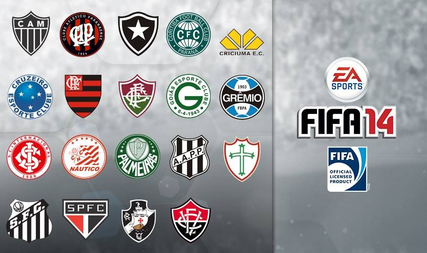 FIFA 14 Licensed Brazil Clubs (Courtesy: www.easports.com)