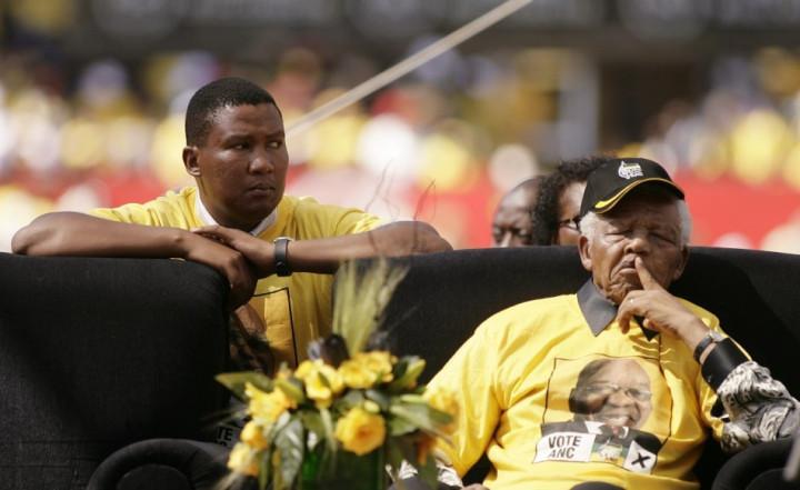 Mandla and Nelson Mandela