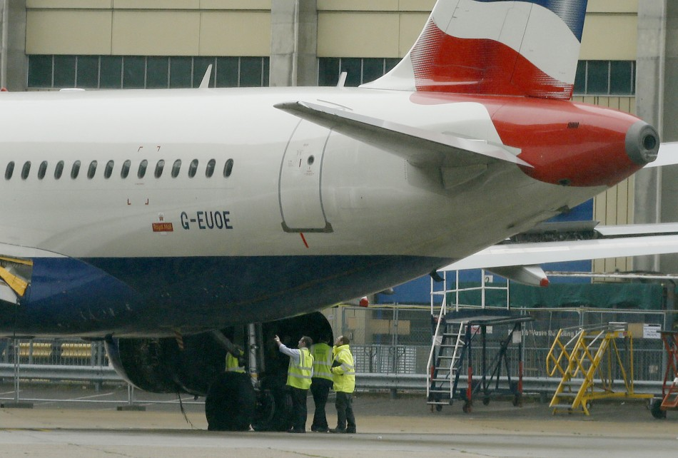 British Airways plane grounded at Heathrow Airport