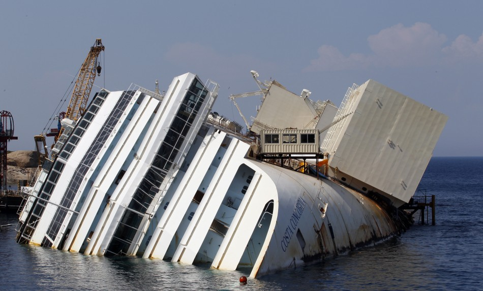 The capsized cruise liner Costa Concordia