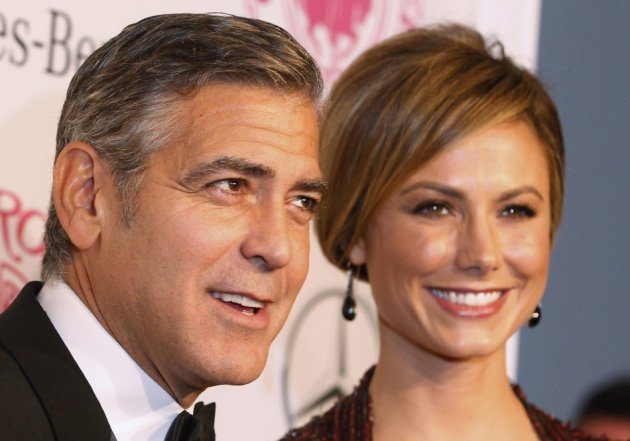 George Clooney (L) and Stacy Kiebler