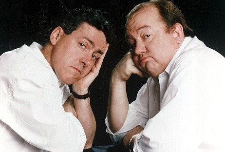 Mel Smith, with Griff Rhys Jones