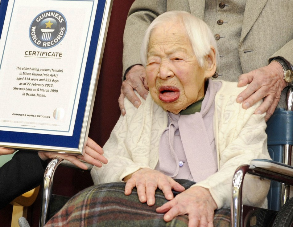 Misao Okawa, a Japanese woman, currently holds the record for world's oldest living person. (Credit: Reuters)