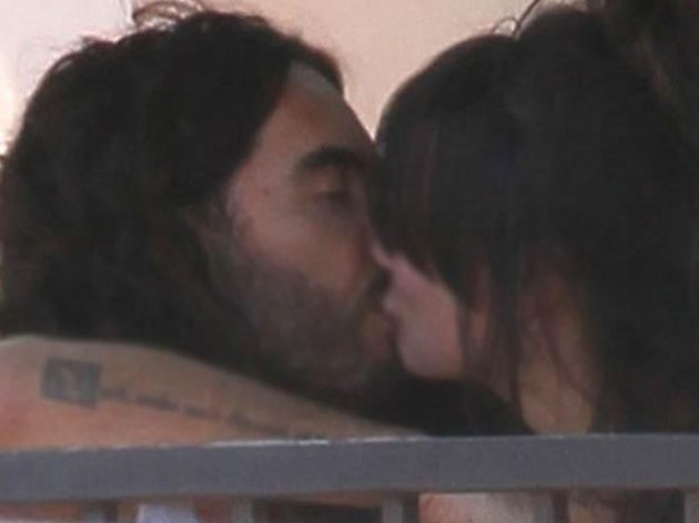 Russell Brand with Nicola Schuller