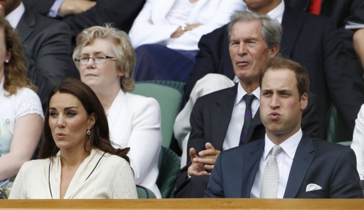 The couple attend the men's quarter-final tennis match between Andy Murray of Britain and David Ferrer of Spain at the Wimbledon in 2012 (Reuters)