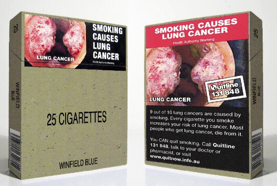 Graphic images have been shown on cigarette packets sold in Australia since 2012.