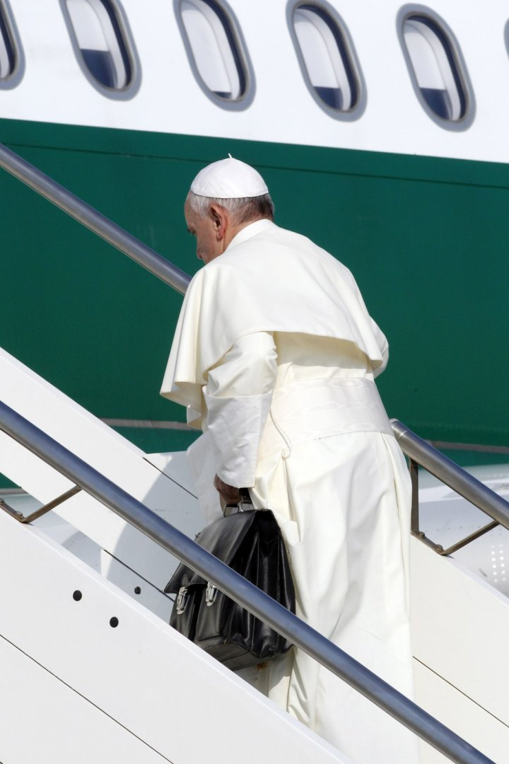 Pope Francis luggage