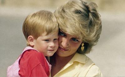 Prince Harry with Diana