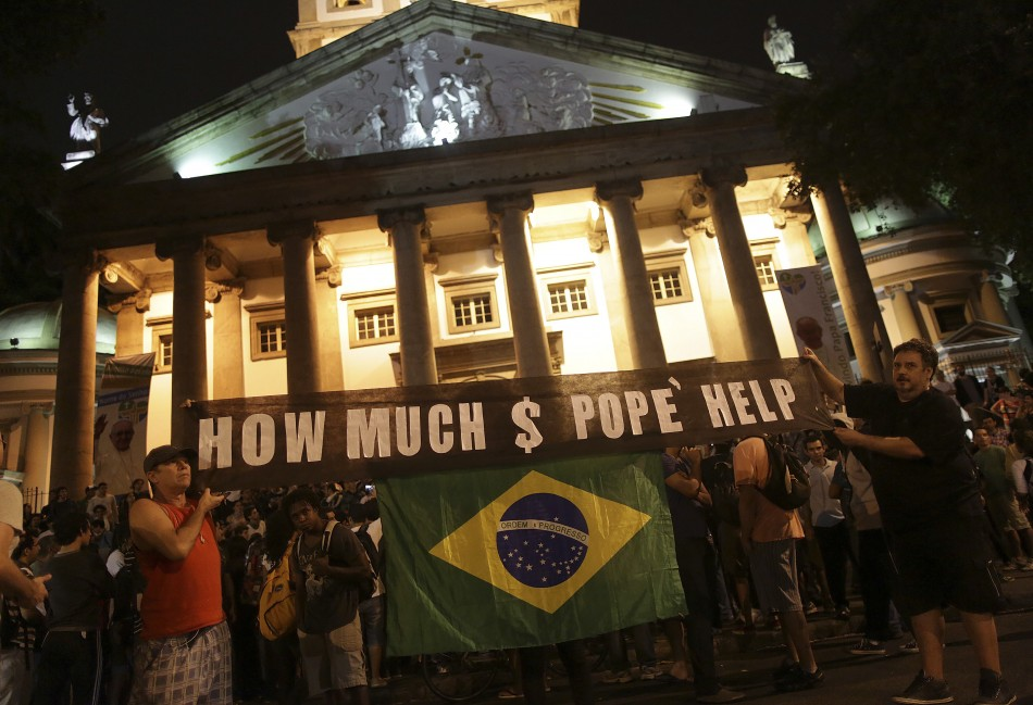 Pope's visit spending stirs controversy