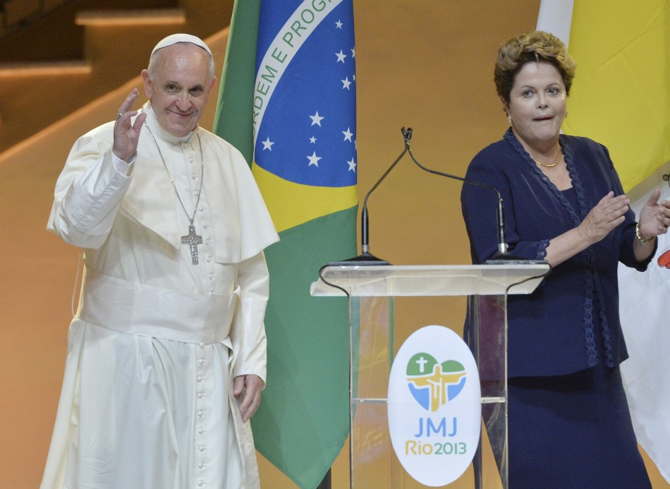 Dilma Rousseff and  Pope Francis