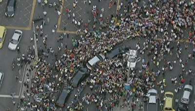 Blocked motorcade