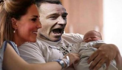 PMSL .. Royal Family release the first picture of John Terry and Kate with the Royal Baby royalbabyboy itsaboy
