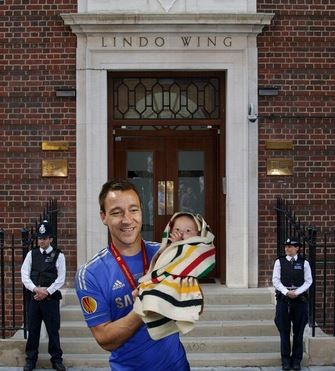 John Terry Celebrates the Birth of the Royal Baby First pictures RoyalBabyBoy